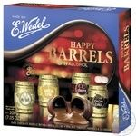 E.Wedel Happy Barrel Chocolate Candies with Alcoholic Filling 200g