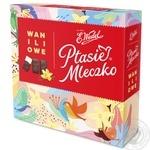 Конфеты шоколадные E.Wedel Птичье молоко с ванильной начинкой 380г - купить, цены на Фуршет - фото 1