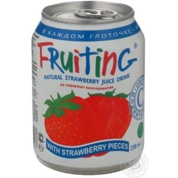 Напиток Фрутинг с клубничным соком 238мл