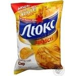 Чіпси картопляні хвилясті Люкс з сиром 80г