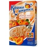 Oat flakes Kuncevo Kashka Minutka with apricot quick-cooking 5portions 185g Russia