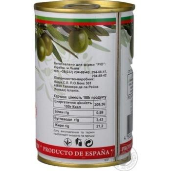 Оливки Ріо зелені б/кіст.з/б 300г - купити, ціни на CітіМаркет - фото 3