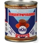 Condensed milk Rogachiv sterilized 8.6% 320g can Belarus