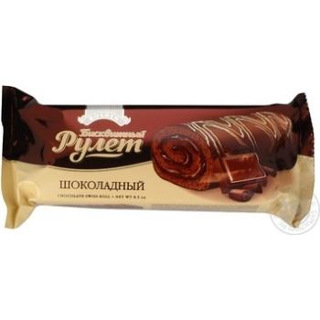 Скидка на Рулет Roshen бисквитный шоколадный в шоколадной глазури 240г Украина