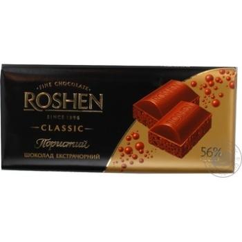 Шоколад экстрачерный пористый Рошен Классик 100г плиточный Украина - купить, цены на Фуршет - фото 3