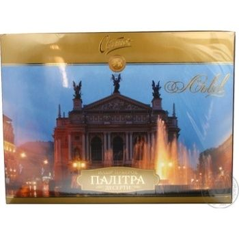 Candy Svitoch Lviv deserty chocolate with filling 378g packaged Ukraine