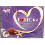 Конфета Милка Я люблю милку шоколад с ванилью 123г коробка Швейцария