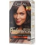 Фарба для волосся L'Oreal Recital Preference 4.01 Париж Глибокий каштан