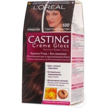 Color Loreal paris Casting creme gloss light chestnut ammonia free for hair Belgium