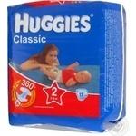 Подгузники Хаггис Классик 2 3-6 кг 18шт