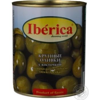 Оливки Iberica гігантські з кісточкою 875мл