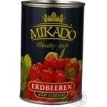 Fruit strawberry Mikado in syrup 410g can Ukraine