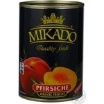 Peach halves Mikado in syrup 400g China