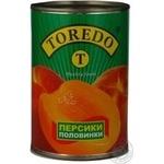 Fruit peach Toredo in syrup 425ml can Greece
