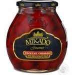 Fruit cherry Mikado canned 720ml glass jar