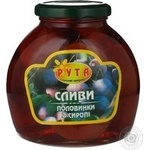 Fruit plum Ruta half 580ml glass jar China