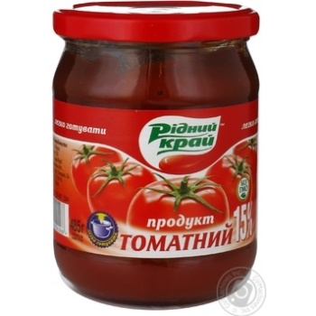 Паста томатная Родной край 15% 485г - купить, цены на Novus - фото 1