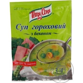Суп Тётя Соня гороховый с беконом 70г