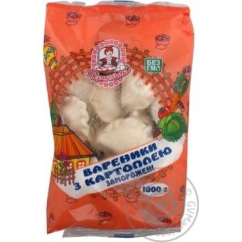 Vareniki Drygalo with potatol frozen 1000g Ukraine