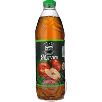 Сок Биола яблочный восстановленный осветленный пастеризованный пластиковая бутылка 1500мл Украина