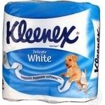 Папiр туалений Kleenex Velt білий 4шт