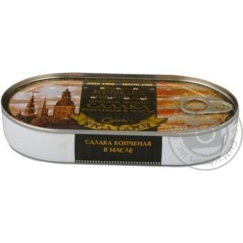 Салака Рижское золото копченая в масле 190г Латвия - купить, цены на Novus - фото 3
