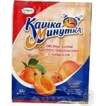 Хлопья овсяные Кунцево Кашка Минутка с абрикосом быстрого приготовления 37г Россия