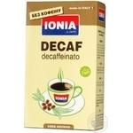Кофе Иония Декафеинато натуральный жареный молотый без кофеина 250г Италия