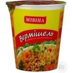 Pasta vermicelli Mivina with chicken 60g plastic cup Ukraine