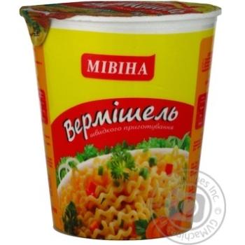 Макароны вермишель Мивина со вкусом курицы 60г Украина