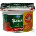 Біфідойогурт Активіа полуниця 2.2% пластиковий стакан 120г Україна