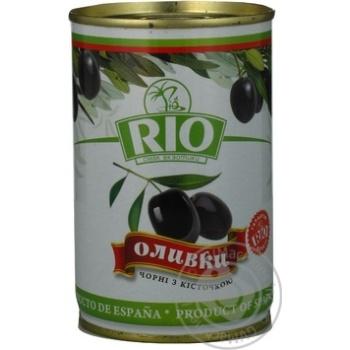 Оливки Ріо чорні з/кіст.з/б 300г
