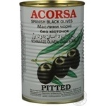 olive Acorsa black pitted 425g can Spain