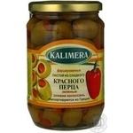 Оливки Kalimera фаршировані Перець червоний солодкий Колоссаль 720мл