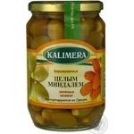 olive Kalimera green stuffed 720ml glass jar Greece