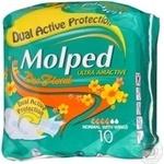 Прокладки Molped Ultra normal deo floral 4крап.гігієн.10шт
