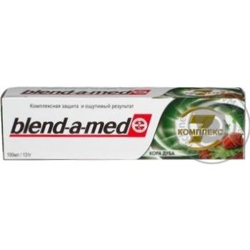 Зубная паста Blend-a-med Комплекс 7 Кора Дуба 100мл - купить, цены на МегаМаркет - фото 2