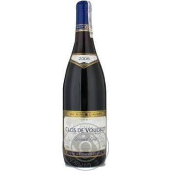 Вино Шампи красное сухие 13.5% 2006год 750мл стеклянная бутылка Бургонь Франция