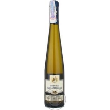 Вино рислинг Домейн шлюмберже белое сухое 12% 2005год 375мл стеклянная бутылка Эльзас Франция