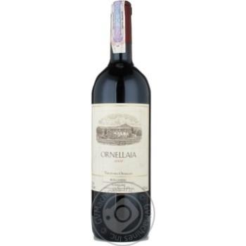 Вино Орнелайя красное сухие 14.5% 2004год 750мл стеклянная бутылка Тоскана Италия