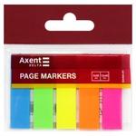 Axent Neon Bookmarks 5 colors 12х45mm 125pcs