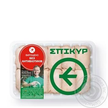 Мясо бедра Epikur цыплят-бройлеров охлажденное весовое (большой лоток)