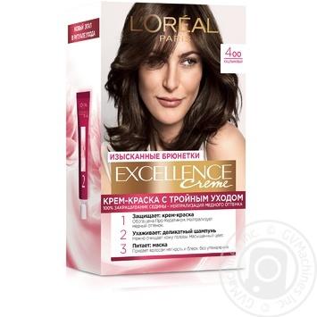 Стойкая крем-краска для волос L'Oreal Paris Excellence Creme 4.00 Каштановый