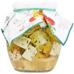 Сыр Эко-Ферма Диво Чемер с пряностями в оливковом масле мягкий 300г