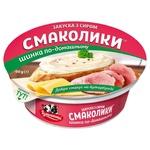 Закуска з сиром Тульчинка Смаколики шинка по-домашньому 55% 90г