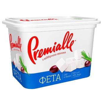 Сыр Premialle Фета 45% 500г - купить, цены на Метро - фото 1