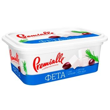 Сыр Premialle Фета 45% 230г - купить, цены на МегаМаркет - фото 1