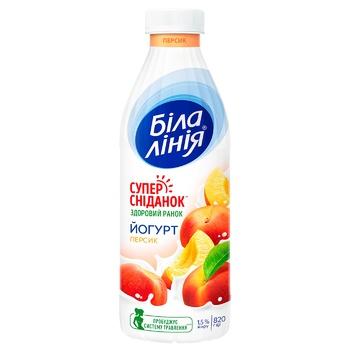 Йогурт Біла лінія Персик 1,5% 820г - купити, ціни на CітіМаркет - фото 1