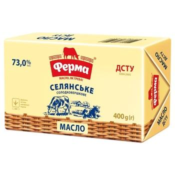 Ferma Selianske Sweet Cream Butter 73% 400g - buy, prices for CityMarket - photo 2