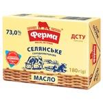 Масло Ферма Селянське сладкосливочное 73% 180г